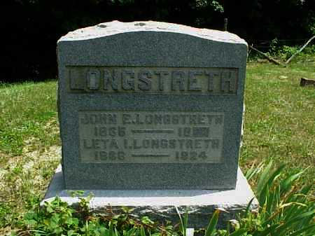 LONGSTRETH, JOHN E. - Meigs County, Ohio | JOHN E. LONGSTRETH - Ohio Gravestone Photos