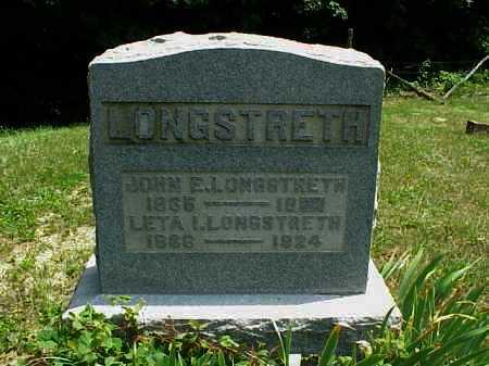 LONGSTRETH, JOHN E. - Meigs County, Ohio | JOHN E. LONGSTRETH - Ohio Gravestone Photos