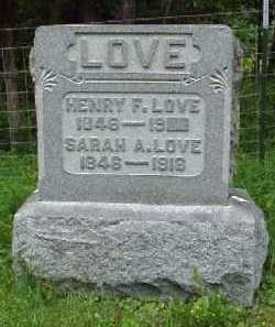 WISEMAN LOVE, SARAH A. - Meigs County, Ohio | SARAH A. WISEMAN LOVE - Ohio Gravestone Photos