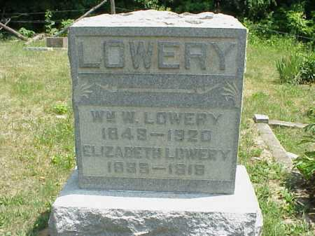 LOWERY, ELIZABETH - Meigs County, Ohio | ELIZABETH LOWERY - Ohio Gravestone Photos
