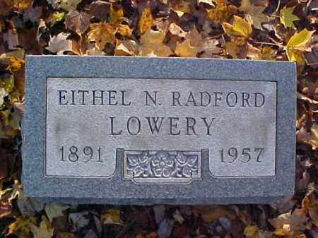 RADFORD LOWERY, EITHEL N. - Meigs County, Ohio | EITHEL N. RADFORD LOWERY - Ohio Gravestone Photos