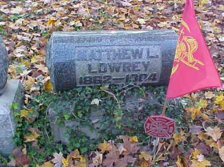 LOWERY, MATTHEW L. - Meigs County, Ohio | MATTHEW L. LOWERY - Ohio Gravestone Photos