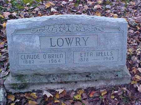 LOWRY, ETTA - Meigs County, Ohio | ETTA LOWRY - Ohio Gravestone Photos