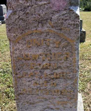 LOWTHER, UNITY - Meigs County, Ohio | UNITY LOWTHER - Ohio Gravestone Photos