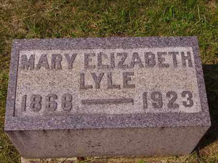 LUTZ LYLE, MARY ELIZABETH - Meigs County, Ohio | MARY ELIZABETH LUTZ LYLE - Ohio Gravestone Photos