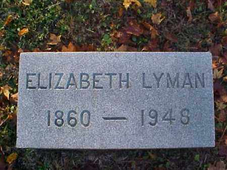 LYMAN, ELIZABETH - Meigs County, Ohio | ELIZABETH LYMAN - Ohio Gravestone Photos