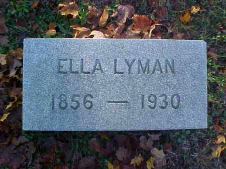 LYMAN, ELLA - Meigs County, Ohio | ELLA LYMAN - Ohio Gravestone Photos