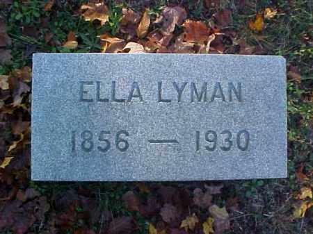 LYMAN, ELLA - Meigs County, Ohio | ELLA LYMAN - Ohio Gravestone Photos