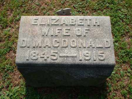 MACDONALD, ELIZABETH - Meigs County, Ohio | ELIZABETH MACDONALD - Ohio Gravestone Photos