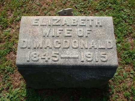 TURNBULL MACDONALD, ELIZABETH - Meigs County, Ohio | ELIZABETH TURNBULL MACDONALD - Ohio Gravestone Photos