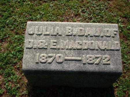 MACDONALD, JULIA B. - Meigs County, Ohio   JULIA B. MACDONALD - Ohio Gravestone Photos