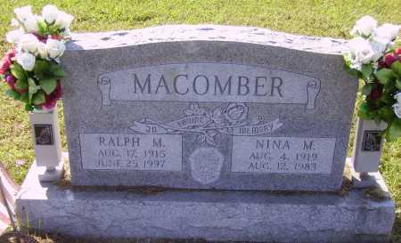 MACOMBER, NINA M. - Meigs County, Ohio | NINA M. MACOMBER - Ohio Gravestone Photos