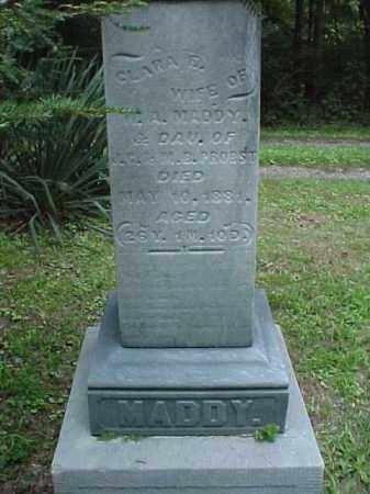 MADDY, CLARA E. - Meigs County, Ohio | CLARA E. MADDY - Ohio Gravestone Photos