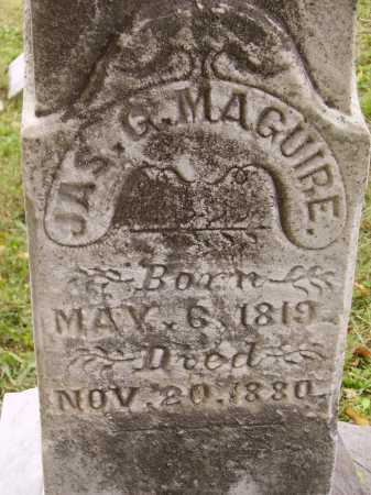 MAGUIRE, JAMES G. - CLOSE VIEW - Meigs County, Ohio | JAMES G. - CLOSE VIEW MAGUIRE - Ohio Gravestone Photos