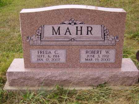 MAHR, ROBERT W. - Meigs County, Ohio | ROBERT W. MAHR - Ohio Gravestone Photos