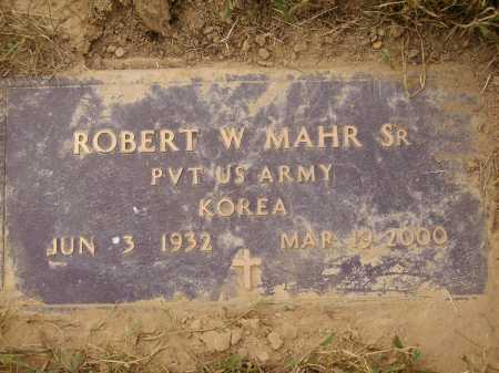 MAHR, ROBERT W., SR - Meigs County, Ohio | ROBERT W., SR MAHR - Ohio Gravestone Photos