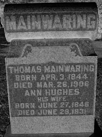 HUGHES MAINWARING, ANN - Meigs County, Ohio | ANN HUGHES MAINWARING - Ohio Gravestone Photos