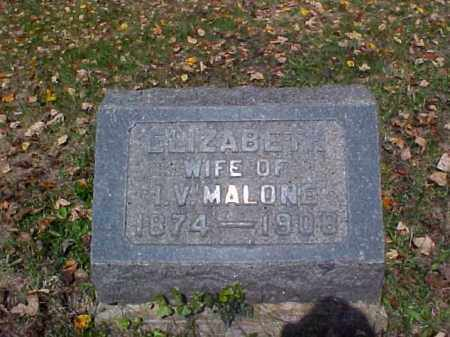 MALONE, ELIZABETH - Meigs County, Ohio | ELIZABETH MALONE - Ohio Gravestone Photos