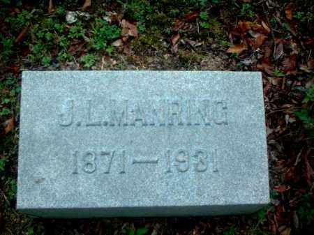 MANRING, J.L. - Meigs County, Ohio | J.L. MANRING - Ohio Gravestone Photos