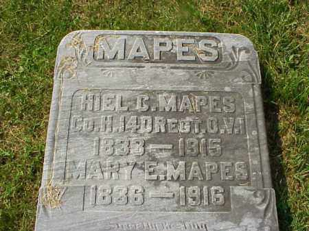 MAPES, HIEL C. - Meigs County, Ohio | HIEL C. MAPES - Ohio Gravestone Photos
