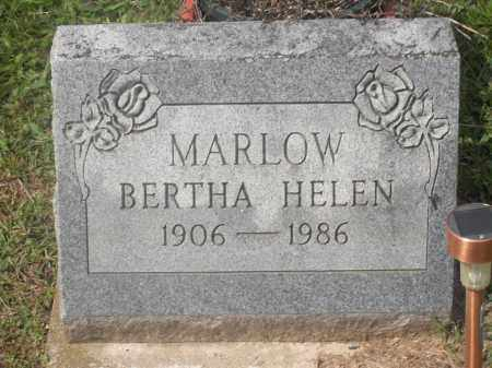 MARLOW, BERTHA HELEN - Meigs County, Ohio | BERTHA HELEN MARLOW - Ohio Gravestone Photos