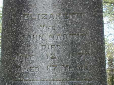 MARTIN, ELIZABETH - Meigs County, Ohio | ELIZABETH MARTIN - Ohio Gravestone Photos
