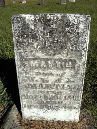 MARTIN, MARY J. - Meigs County, Ohio | MARY J. MARTIN - Ohio Gravestone Photos