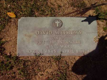 MATHEWS, DAVID - Meigs County, Ohio | DAVID MATHEWS - Ohio Gravestone Photos
