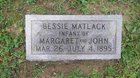 MATLACK, BESSIE - Meigs County, Ohio | BESSIE MATLACK - Ohio Gravestone Photos