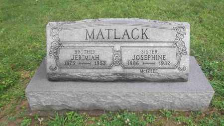 MATLACK, JERIMIAH - Meigs County, Ohio | JERIMIAH MATLACK - Ohio Gravestone Photos