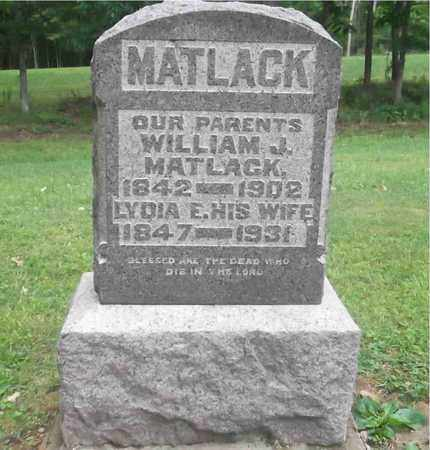 MATLACK, WILLIAM J. - Meigs County, Ohio | WILLIAM J. MATLACK - Ohio Gravestone Photos
