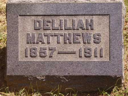 MATTHEWS, DELILIAH - Meigs County, Ohio | DELILIAH MATTHEWS - Ohio Gravestone Photos