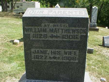 MATTHEWSON, JANE - Meigs County, Ohio | JANE MATTHEWSON - Ohio Gravestone Photos