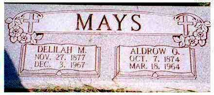 MAYS, DELILAH M. - Meigs County, Ohio | DELILAH M. MAYS - Ohio Gravestone Photos