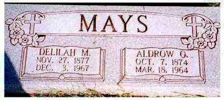 MAYS, ALDROW G. - Meigs County, Ohio | ALDROW G. MAYS - Ohio Gravestone Photos