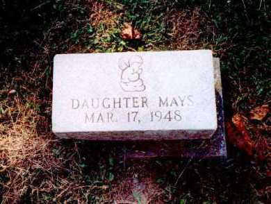 MAYS, DAUGHTER - Meigs County, Ohio | DAUGHTER MAYS - Ohio Gravestone Photos