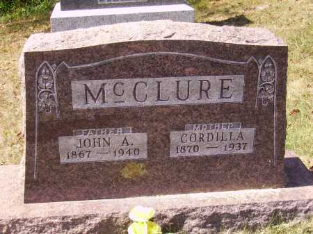 SAXTON MC CLURE, CORDILLA - Meigs County, Ohio | CORDILLA SAXTON MC CLURE - Ohio Gravestone Photos