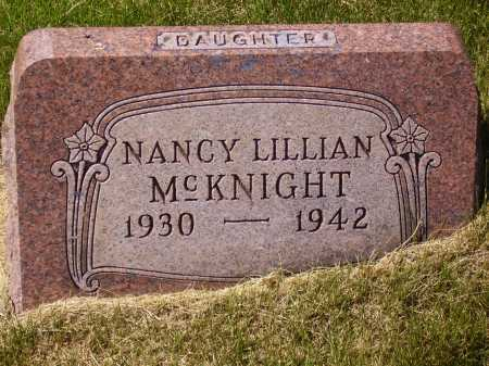 MC KNIGHT, NANCY LILLIAN - Meigs County, Ohio | NANCY LILLIAN MC KNIGHT - Ohio Gravestone Photos