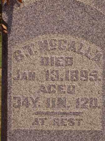 MCCALLA, B. T.  CLOSE VIEW - Meigs County, Ohio | B. T.  CLOSE VIEW MCCALLA - Ohio Gravestone Photos