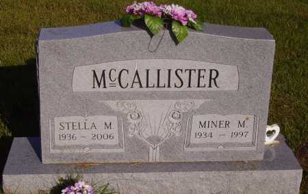 MCCALLISTER, MINER M. - Meigs County, Ohio | MINER M. MCCALLISTER - Ohio Gravestone Photos