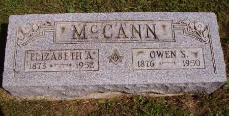 JOHN BABLE MCCANN, ELIZABETH A. - Meigs County, Ohio | ELIZABETH A. JOHN BABLE MCCANN - Ohio Gravestone Photos