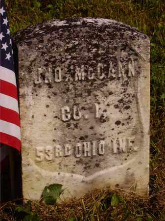 MCCANN, JOHN - Meigs County, Ohio | JOHN MCCANN - Ohio Gravestone Photos
