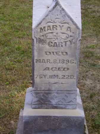 JORDAN MCCARTY, MARY A. - Meigs County, Ohio | MARY A. JORDAN MCCARTY - Ohio Gravestone Photos