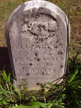 MCCASKEY, ELIZABETH - Meigs County, Ohio | ELIZABETH MCCASKEY - Ohio Gravestone Photos