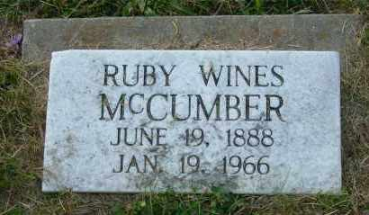 MCCUMBER, RUBY - Meigs County, Ohio | RUBY MCCUMBER - Ohio Gravestone Photos