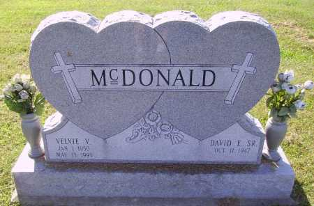 STOVER MCDONALD, VELVIE  VIRGINIA - Meigs County, Ohio | VELVIE  VIRGINIA STOVER MCDONALD - Ohio Gravestone Photos