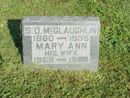 MCGLAUGHLIN, MARY ANN - Meigs County, Ohio | MARY ANN MCGLAUGHLIN - Ohio Gravestone Photos