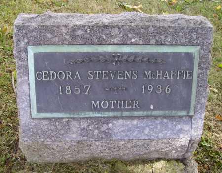 STEVENS MCHAFFIE, CEDORA ARMILDA - Meigs County, Ohio | CEDORA ARMILDA STEVENS MCHAFFIE - Ohio Gravestone Photos