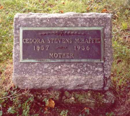 STEVENS MCHAFFIE, CEDORA - Meigs County, Ohio | CEDORA STEVENS MCHAFFIE - Ohio Gravestone Photos