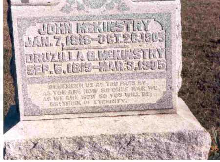 MCKINSTRY, JOHN - Meigs County, Ohio | JOHN MCKINSTRY - Ohio Gravestone Photos